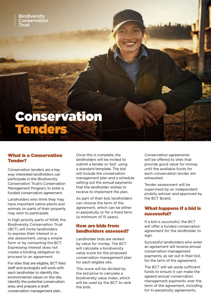 Conservation Tenders   Gwydir Shire Council